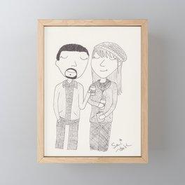 a nice warm apple cider Framed Mini Art Print