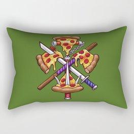 Ninja Pizza Rectangular Pillow