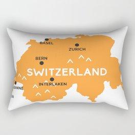 Switzerland Map Zurich Rectangular Pillow