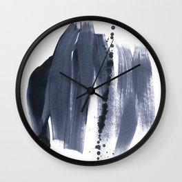 brush strokes 10 Wall Clock