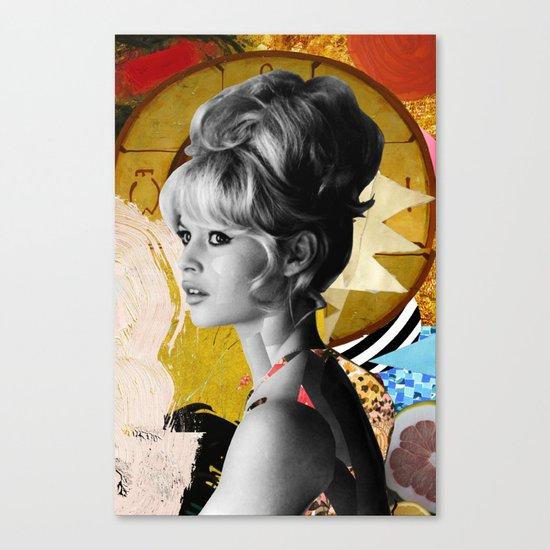 Golden Brigitte Bardot  By Zabu Stewart Canvas Print