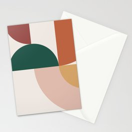 Abstract Geometric 12 Stationery Cards