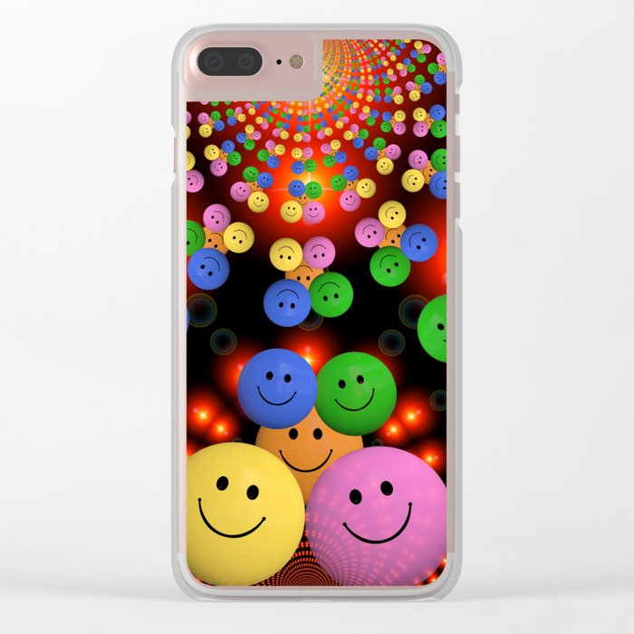 Smiley Clear iPhone Case