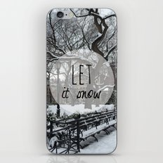 Let it snow! iPhone & iPod Skin