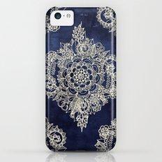 Cream Floral Moroccan Pattern on Deep Indigo Ink Slim Case iPhone 5c