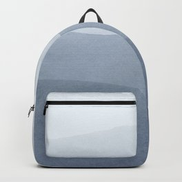 Tranquil Modern Gray Gradation To White Backpack