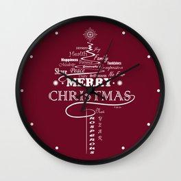 The Wishing Christmas Tree Wall Clock
