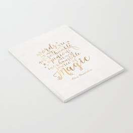 Dumbledore's Magic Words Notebook