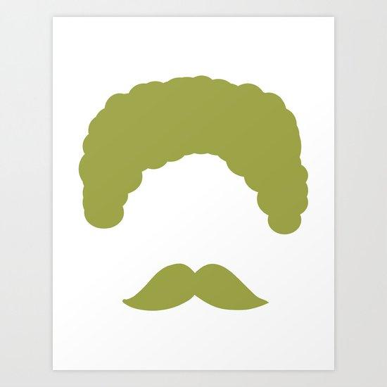 Moustache2 Art Print