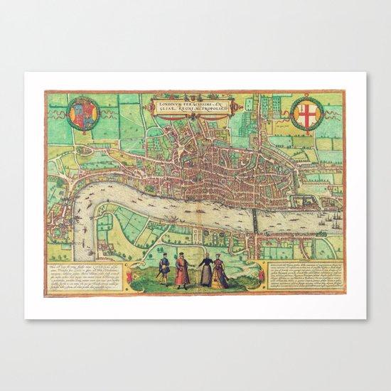 A Modern Map of London Canvas Print