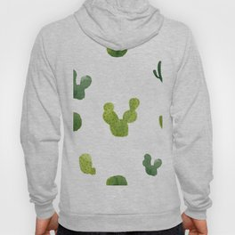 ABSTRACT WATERCOLOR CACTUS PATTERN Hoody