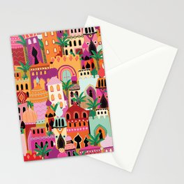 Moroccan Village Sunset Stationery Cards