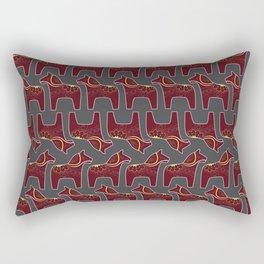 gray Dala horse pattern Rectangular Pillow