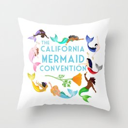 MermaidCircleCMC Throw Pillow