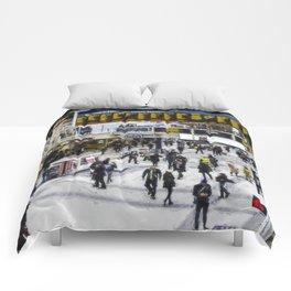 London Train Station Art Comforters