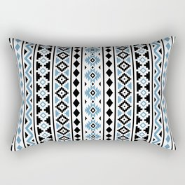 Aztec Essence Pattern II Light Blue Black White Rectangular Pillow