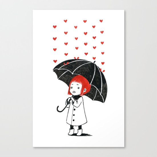 Love rain Canvas Print