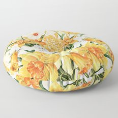 Wordsworth  and daffodils. Floor Pillow