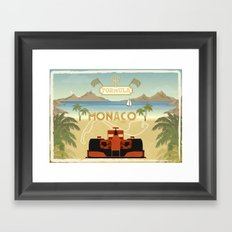 Formula 1 in Monaco Framed Art Print