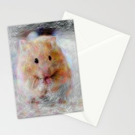Artistic Animal Hamster Stationery Cards