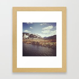 Looking Over the Creek at the Gros Ventre Mountain Range, Wyoming Framed Art Print