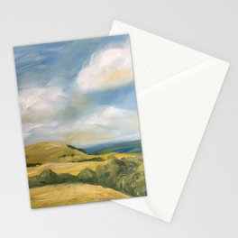 original abstract landscape painting number 8 Stationery Cards
