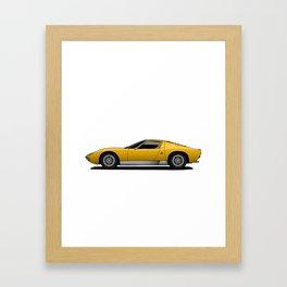 Yellow Sports Car Framed Art Print