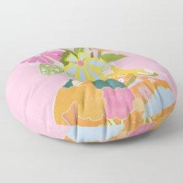 Colourful Garden Floor Pillow