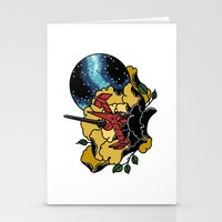 cowboy bebop Stationery Cards featuring Cowboy Bebop Swordfish II by Carrie South