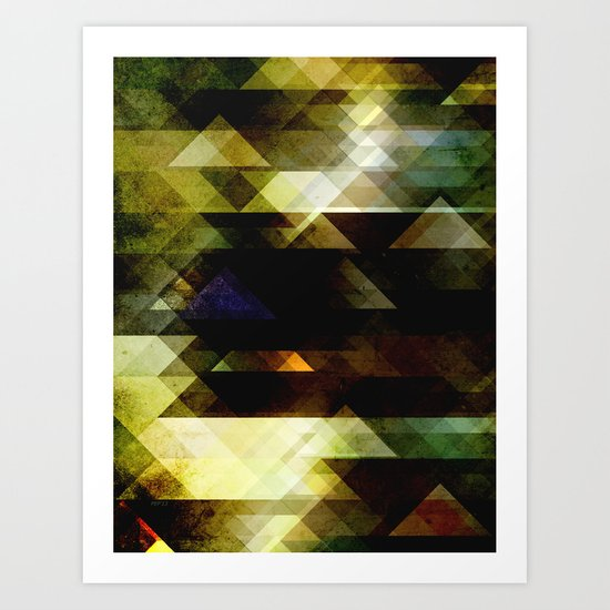 Mossy Green Abstract Art Print