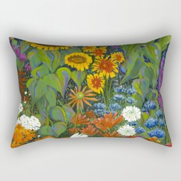 Native Flowers of the Arkansas Territory Rectangular Pillow