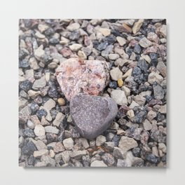 Stone hearts color version NS01A Metal Print
