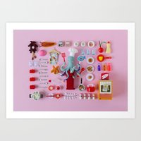 Miniature Collage: Cooking Art Print