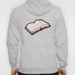 Reading Books pattern in Pink Hoody