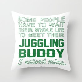 Juggling Buddy Throw Pillow