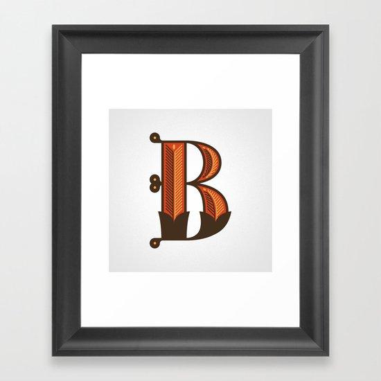 The Letter B Framed Art Print