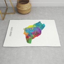 Saudi Arabia Watercolor Map Rug