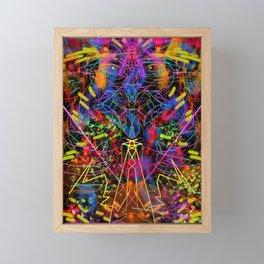 Blowing Fire Framed Mini Art Print