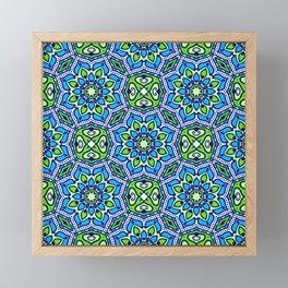 Colorful Folklore Ethnic Patterns Framed Mini Art Print