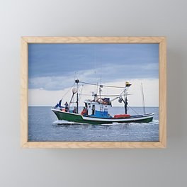 Traditional fishing boat off Tenerife in the Canary Islands Framed Mini Art Print