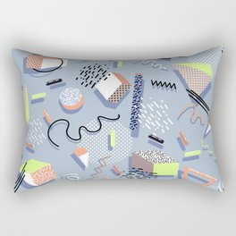 Custom Multicolor Geometric Pattern Rectangular Pillow