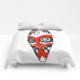 Tribal mask present bright Comforters
