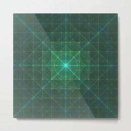 Grid Essence Metal Print