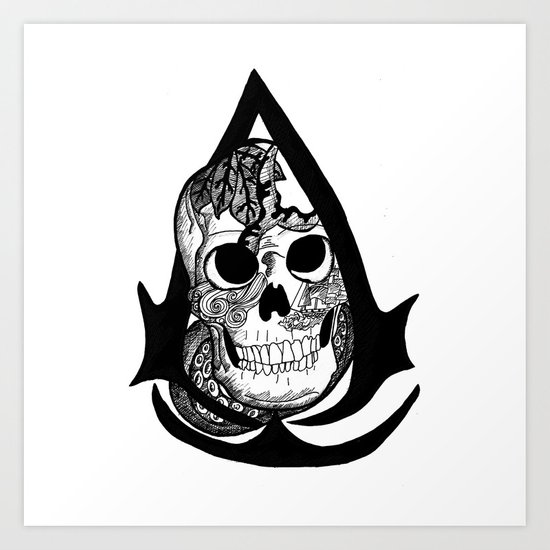 assassins creed logo Art Print