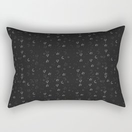 Minimal Pattern :: Black Triangle Moon Rectangular Pillow