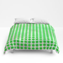 Four leaf clover pattern on texture Comforters