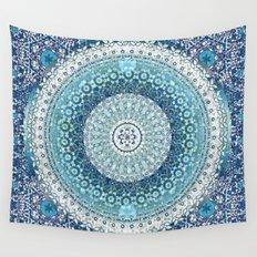 Teal Tapestry Mandala Wall Tapestry