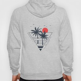 Sunset. Palms. Geometric Style Hoody