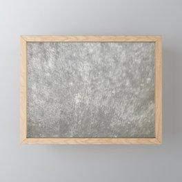 Gray Marble Framed Mini Art Print
