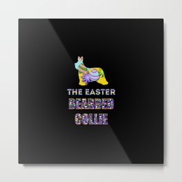Bearded Collie gifts | Easter gifts | Easter decorations | Easter Bunny | Spring decor Metal Print
